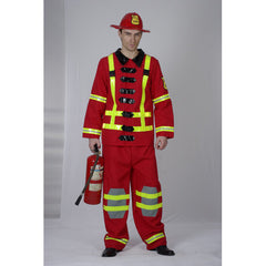Fireman Adult Costume-Red