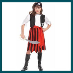 Pirate Lass Childs Costume