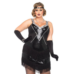 Glamour Flapper Costume - Plus Sizes by Leg Avenue