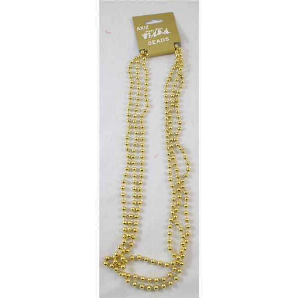 Gold Bead Necklaces (3 pk)