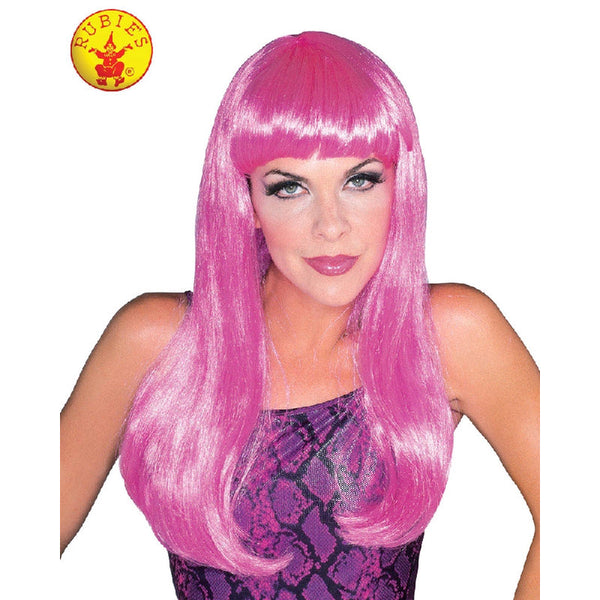 Glamour Hot Pink Wig