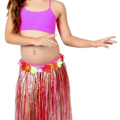 Child Hula Skirt Multi Colour with Flowers