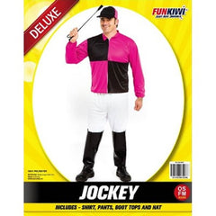 Mens Jockey Black & Pink Costume