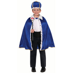 King Robe & Crown Set in Royal Blue - Child