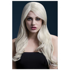 Long Blonde Wig with Side Part - Nicole