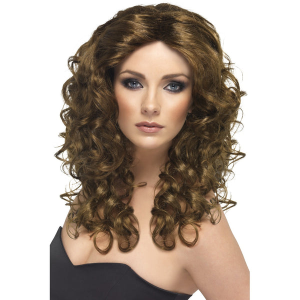 Long Brown Glamour Wig