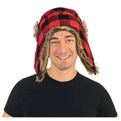Lumberjack Hat in Black/Red