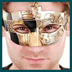 Tivoli-Black and Gold Eye Mask