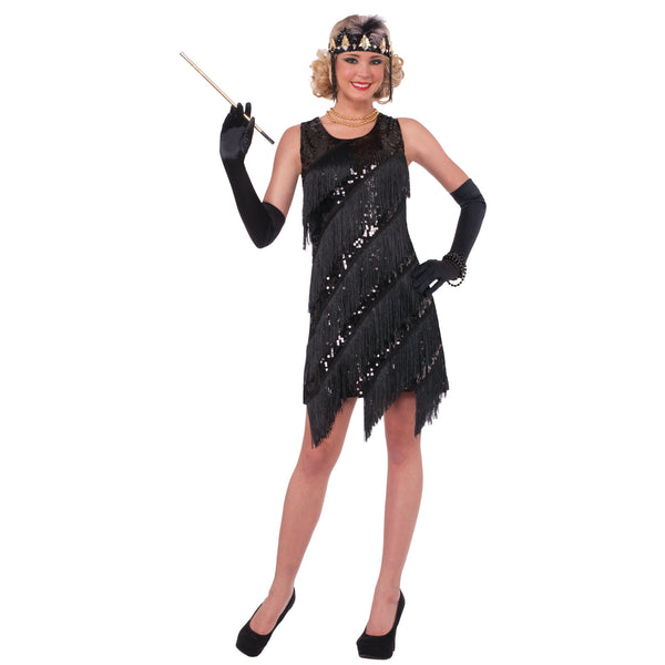 Midnight Dazzle Flapper Costume