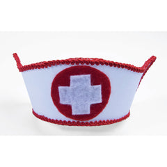 Mini Nurse Hat with Hair Clips
