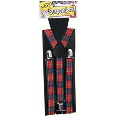 Nerd Suspenders - Red & Black Check