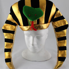Egyptian Pharaoh Hat with Snake