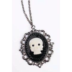 Pirate Skull Cameo Necklace
