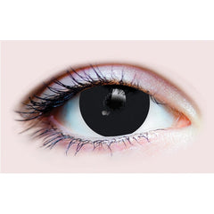 Black Costume Primal Contact Lenses 15.2 mm Mini Scleral