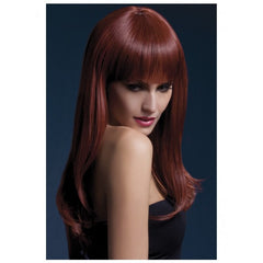 Long Straight Auburn Wig - Sienna