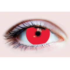 Red Costume Contact Lens 15.2 mm Mini Scleral