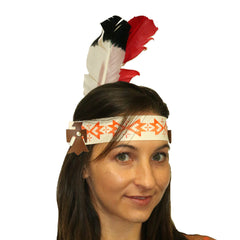 Indian Headdress White and Red