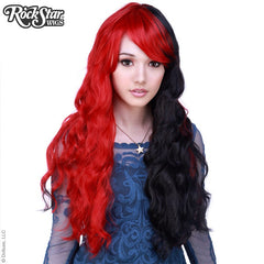 Classic Red and Black Wavy Wig