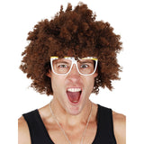 Red Foo Curly Brown Wig