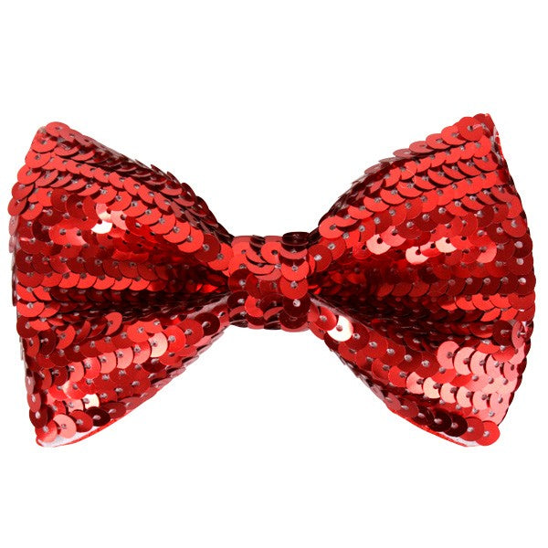 Bow Tie Red Sequin