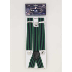 Roarin 20's Striped Blue & Green Suspenders
