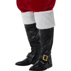 Santa Boot Covers with Fur Trim