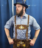 Oktoberfest Blue Check Shirt