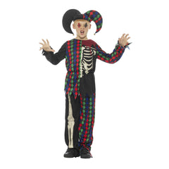 Skeleton Jester Costume - Child