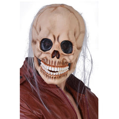 Skull Mask with Grey Wispy Hair