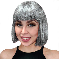 Sparkle Nation Wig - Silver