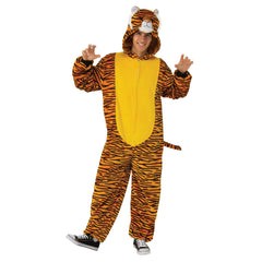 Tiger Furry Onesie Costume-Adult