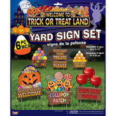 Trick or Treat Halloween Lawn Sign Set