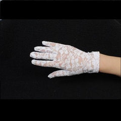 Gloves - Short White Lace