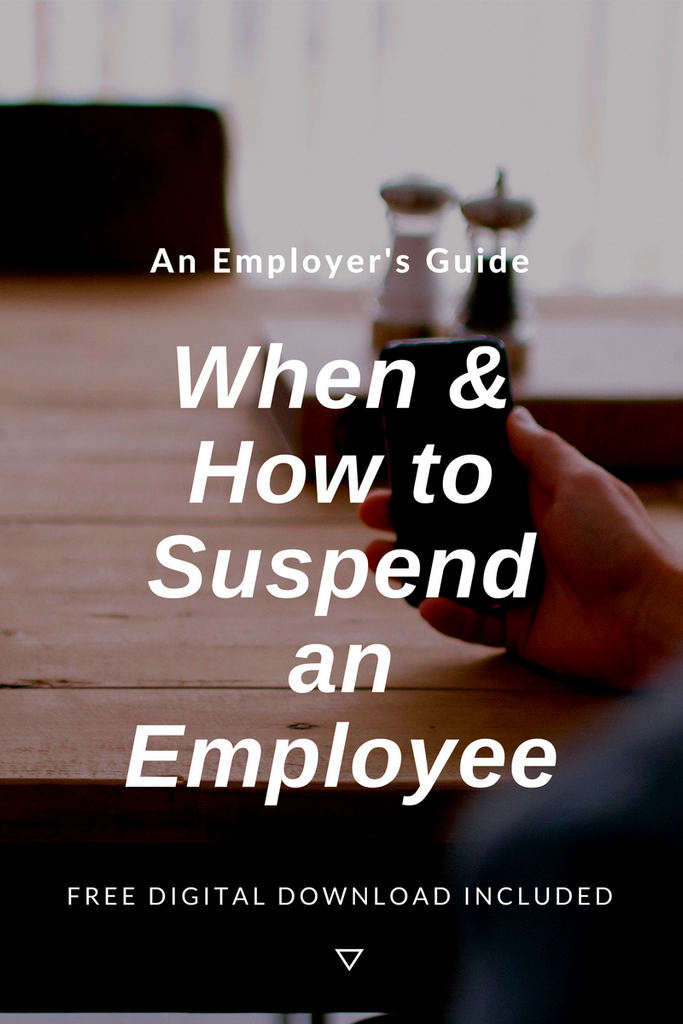 When and How to effect a Precautionary Suspension