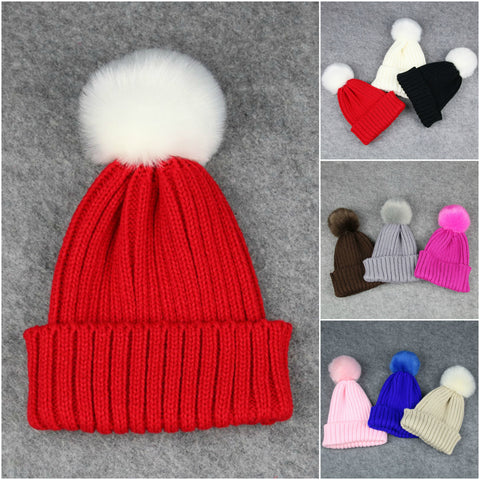 Candy Colour Children's Winter Knitted Hat