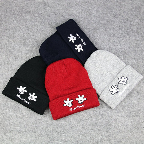 Winter Palm Embroidered Knitted Wool Beanies