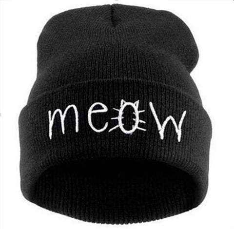 Unisex Meow Hip-hop Spring / Winter Letter Printed Hats / Beanies
