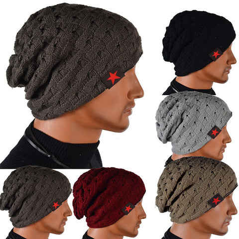 Reversible Chunky Wool Knitted Winter Beanies