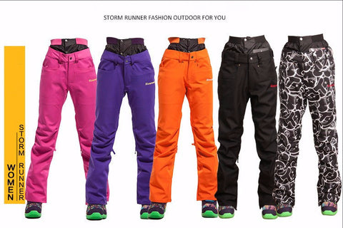 Double cotton-padded Women's Ski & Snowboarding pants
