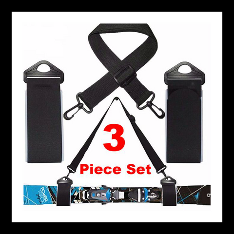Double Ski Straps Tie with Shoulder Sling