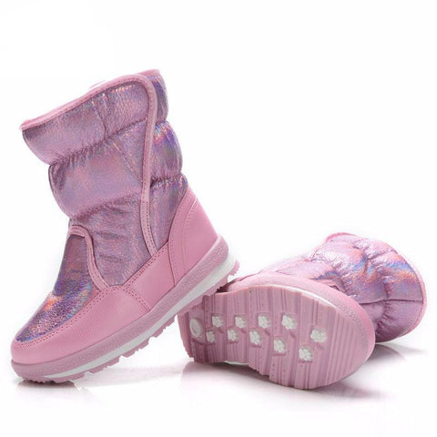 Anti-skid and Waterproof Girls' Snow Boots