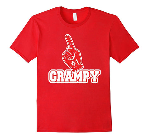 #1 Grampy T Shirt - Number One Foam Finger Father Gift Tee