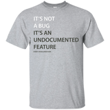 """It's not a bug"" Every developer Funny Programming TShirt"