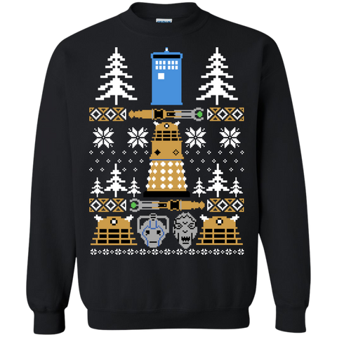Doctor Who Ugly Sweater  Printed Crewneck Pullover Sweatshirt  8 oz