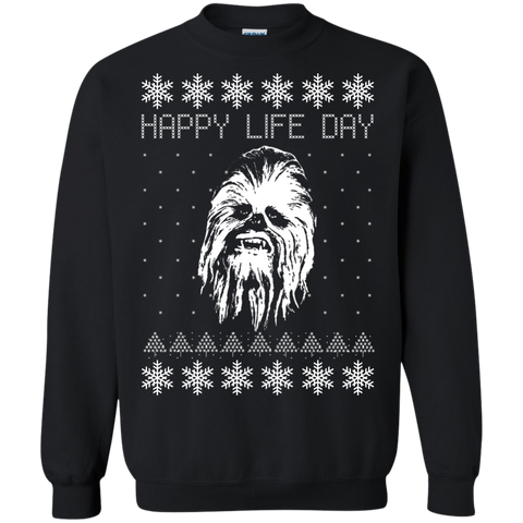 Happy Life Day - Star Wars Christmas Shirt  Printed Crewneck Pullover Sweatshirt  8 oz