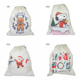 *Merry Christmas Series 2*Double Side Printed Handmade Drawstring Canvas Pouch