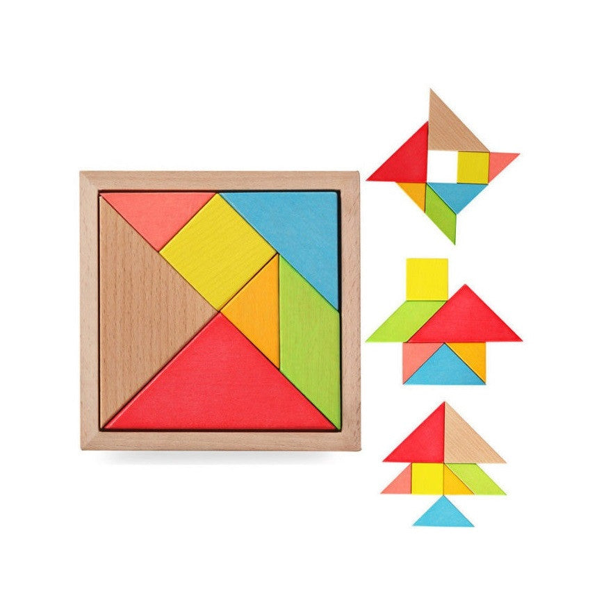 Colorful Wooden Geometry Tangram Puzzle