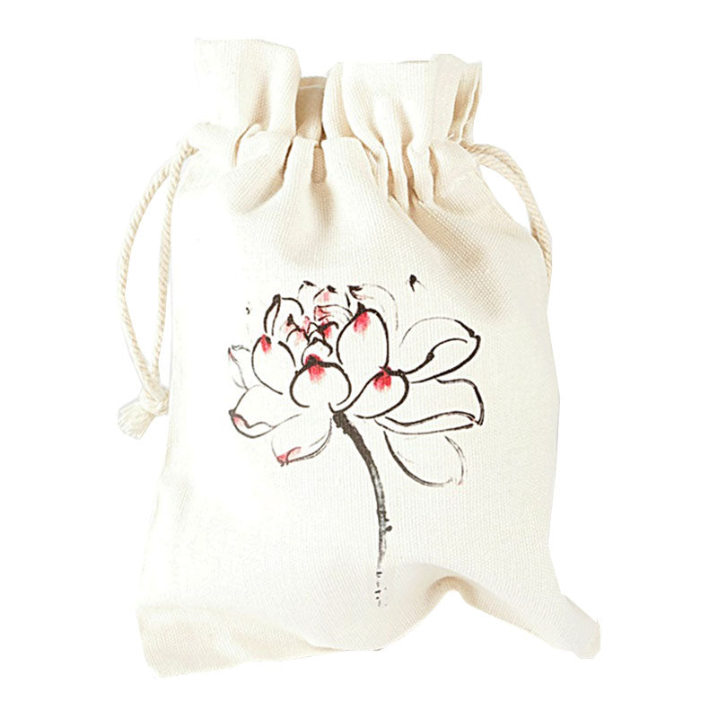 Lotus Flower Canvas Pouch