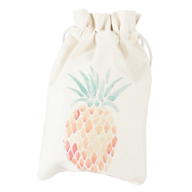 Golden Pineapple Canvas Pouch