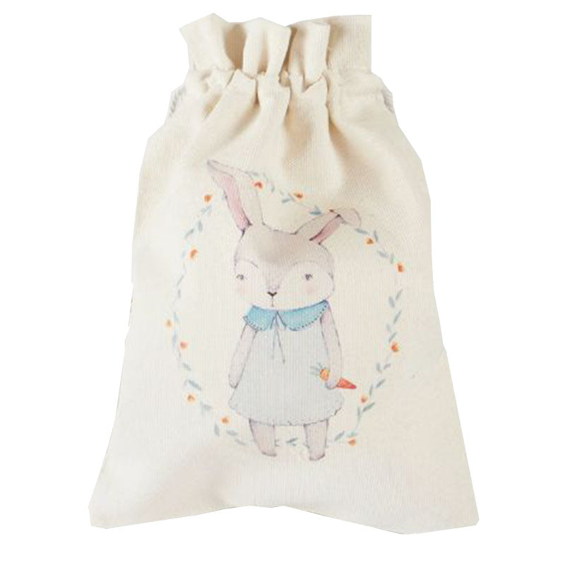 Rabbit In the Woods Canvas Pouch